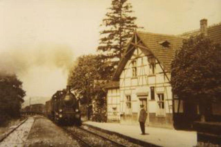 Der alte Bahnhof Sichtigvor 1935