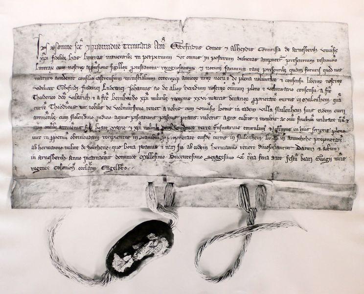 Urkunde von 1266