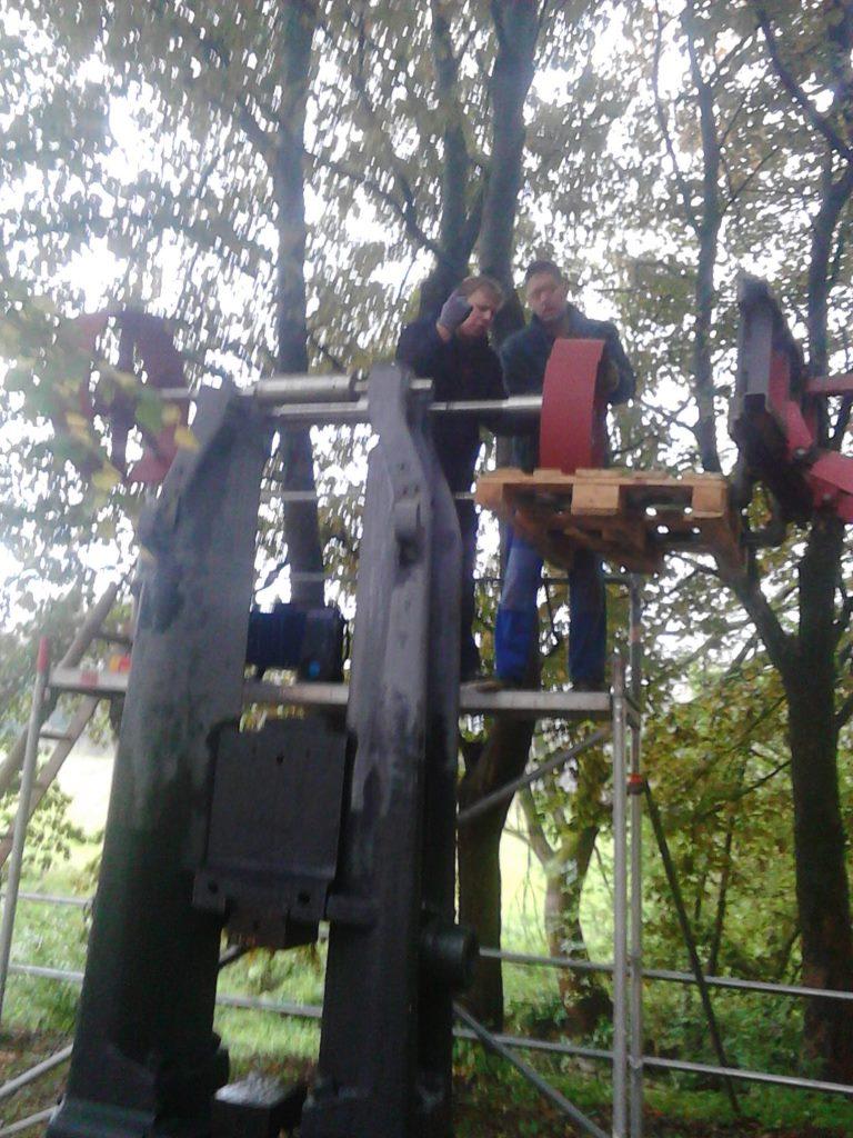 17. Montage der Transmissionsräder im Oktober 2015