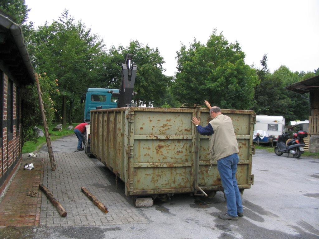 2. Anlieferung des Brettfallhammers im Juli 2005