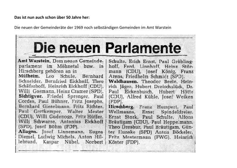 Westfalenpost vom 14.11.1969