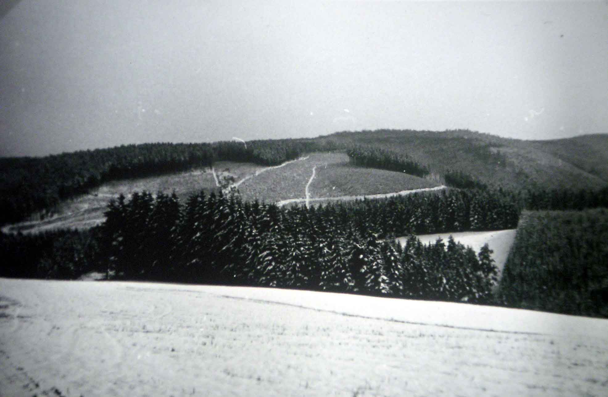 Blick vom Branntriggen auf Narrenberg und Butterberg im Winter 1962 - fast wie heute!